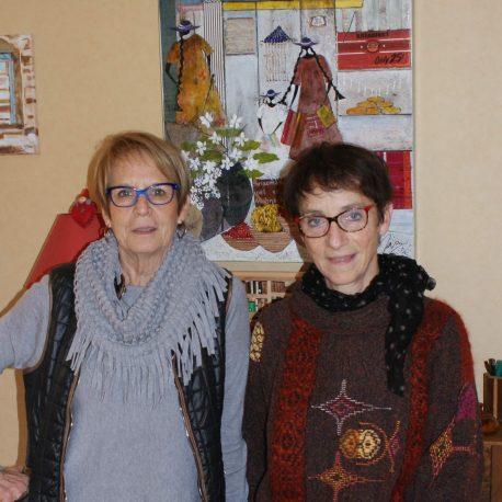 Annette Maurin et Geneviève Allier